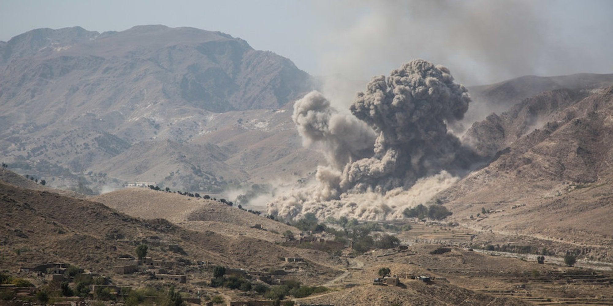 US airstrike kills five Taliban fighters amid Afghanistan withdrawal