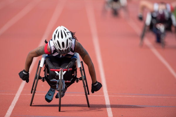 Wounded Warriors show off their athletic skills at Marine Corps Trials