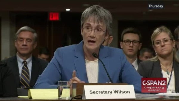 Air Force Secretary Heather Wilson is stepping down