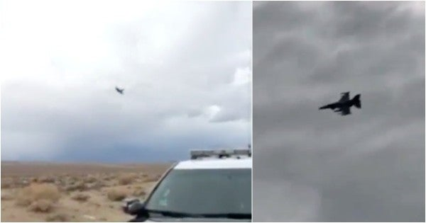 Here's what it looks like when an F-16 makes a highway patrol officer's radar go apesh*t