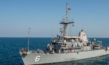 Navy minesweeper damaged after fire breaks out while docked in Bahrain
