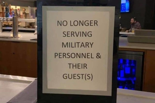 Colorado hotel employees fired for displaying sign disparaging military at post-deployment event
