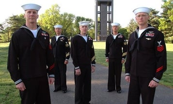 Senior enlisted sailors with less-than-perfect records will no longer have to wear red stripes of shame
