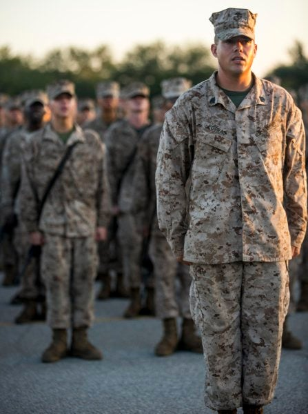 Marines may soon be dropping everything to sing the Marines' Hymn when they hear it