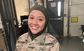 A Muslim soldier says she's suing the Army for being told to remove her hijab