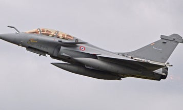 A civilian was ejected from a French fighter jet during takeoff