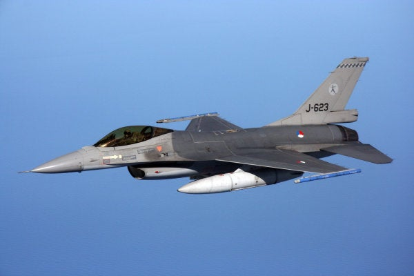 A Dutch F-16 fighter shot itself with its own cannon