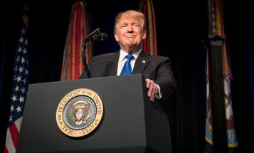 Trump, who likes people who weren't captured, honors former POWs anyway