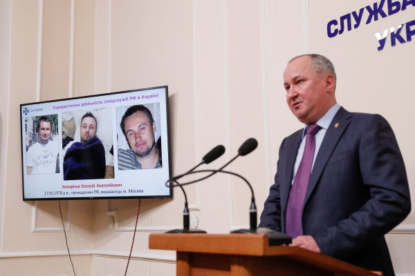 Ukraine says it captured a Russian military intelligence 'hit squad'