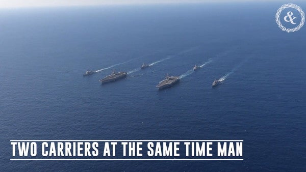 The US is doing two carriers at the same time in the Mediterranean to send a message to Russia