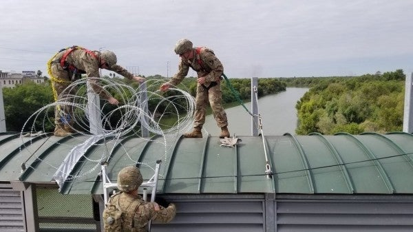 A pair of US soldiers were stopped and disarmed in Texas by Mexican troops who thought they crossed the border