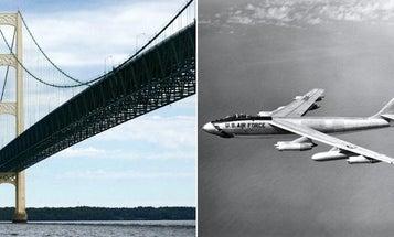 60 years ago, an Air Force pilot flew his B-47 bomber under a Michigan bridge