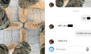 Corps investigating Marine for sending boot swastika photo to 'Terminal Lance' creator