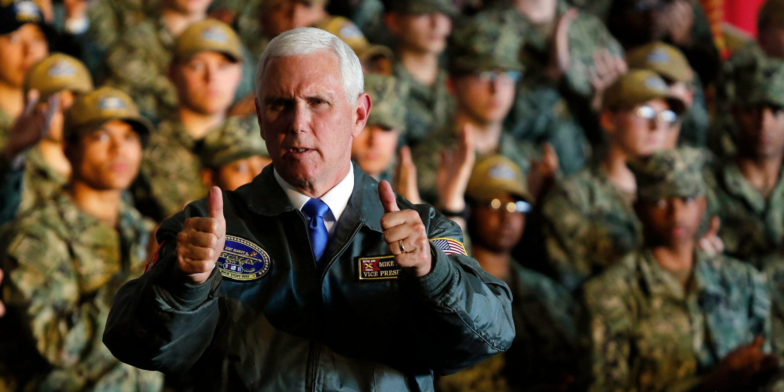 Navy sailors were told to 'clap like we're at a strip club' for Pence's aircraft carrier visit
