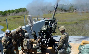 The Army is practicing firing artillery from boats for the first time since the Vietnam War