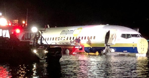 'A miracle' — All 143 survive after jet skids off runway into a river at NAS Jacksonville