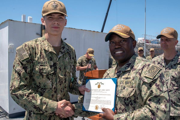 Sailor honored for stopping possible mass shooting during Easter Sunday church service