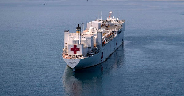 The Pentagon plans on sending a Navy hospital ship to assist Venezuelan refugees