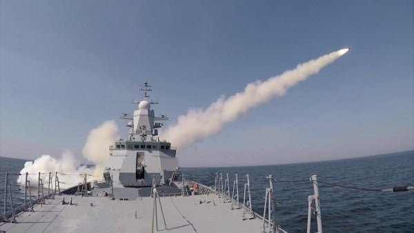 Watch a Russian corvette fire off some anti-ship missiles in a flex of its naval modernization strategy