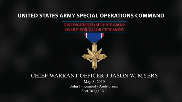 An Army special operations warrant officer is now the only soldier on active duty with two Distinguished Service Crosses
