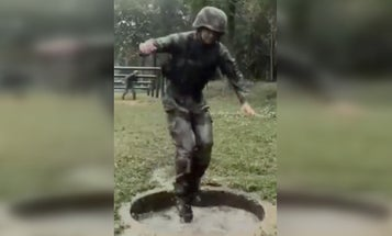 People are mocking China for celebrating its 'incredibly strong' soldiers with this ridiculous obstacle course video