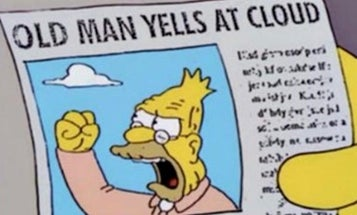 Navy captain yells at cloud
