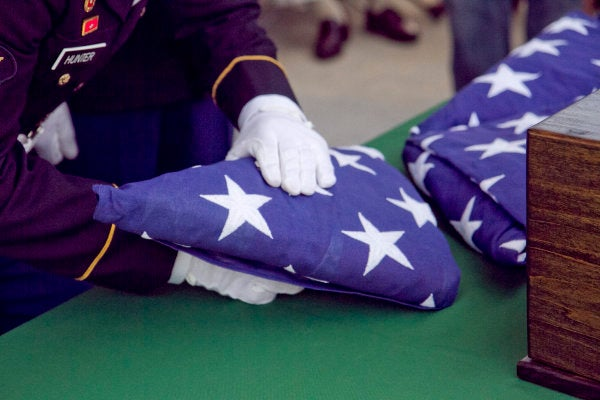 'They now have family:' Dozens show up to honor unclaimed veterans buried with military honors