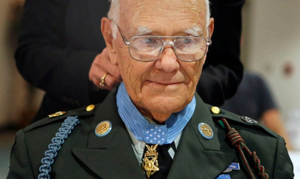 The oldest Medal of Honor recipient has died nearly 75 years after jumping on a grenade to save his fellow soldiers
