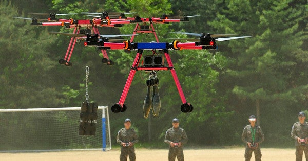 South Korea's army is training drones to teabag enemies with explosives