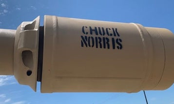We salute the soldiers who named their tank 'Chuck Norris' after the actor hung out with them