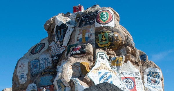 Here's the real story behind the 'Painted Rocks' at the Army's National Training Center