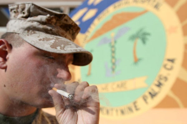 A new bill would raise the tobacco purchase age to 21, military included
