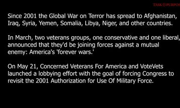 Conservative and liberal veterans groups launch lobbying campaign to end the 'forever wars'
