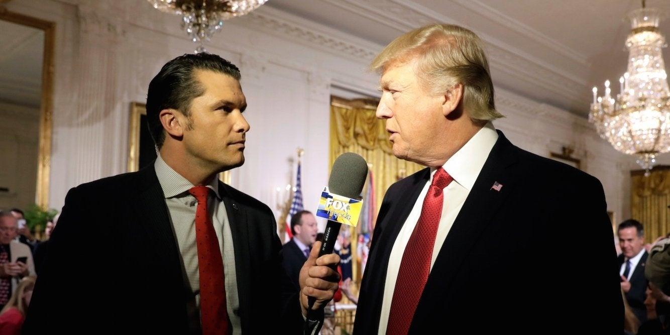 'Fox and Friends' co-host Pete Hegseth reportedly convinced Trump to consider pardons for US troops accused of war crimes