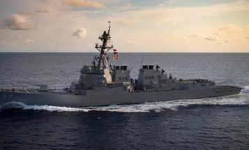 Navy warships again sail through the Taiwan Strait amid rising trade tensions with China