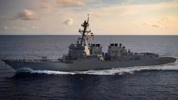 Arleigh Burke-class guided-missile destroyer USS Preble