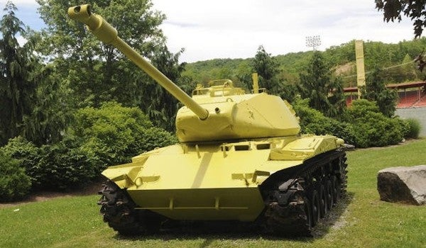 A WWII-era tank in West Virginia mysteriously turned yellowish-green overnight. Here's why