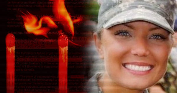 The Army ignored her warnings about a dangerous colleague. Then he set her on fire
