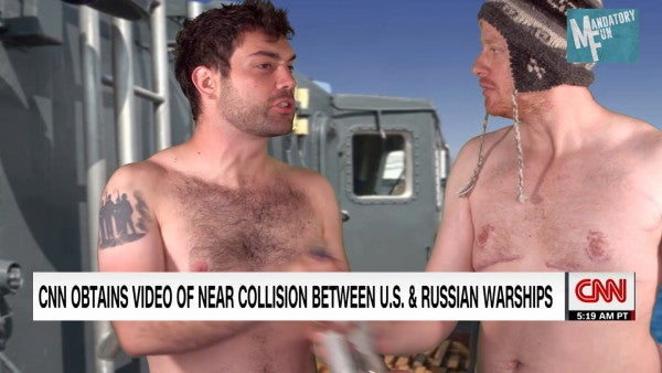 Russian admiral: It's not weird at all that sailors were sunbathing shirtless as their destroyer nearly collided with a US warship