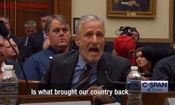 Watch an emotional Jon Stewart shame Congress for failing 9/11 first responders
