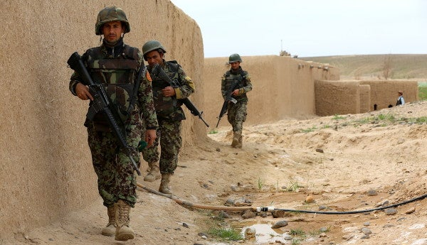 US troops wiped out a contingent of Afghan security forces with an airstrike for the second time in a month