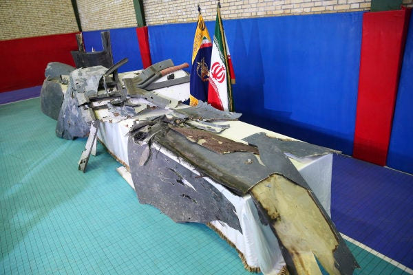 Iran shows off what it says is wreckage of the U.S. drone it shot down
