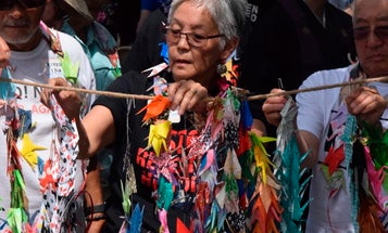 Japanese internment camp survivors protest Fort Sill migrant detention center