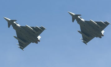 2 Eurofighters crash over eastern Germany after mid-air collision