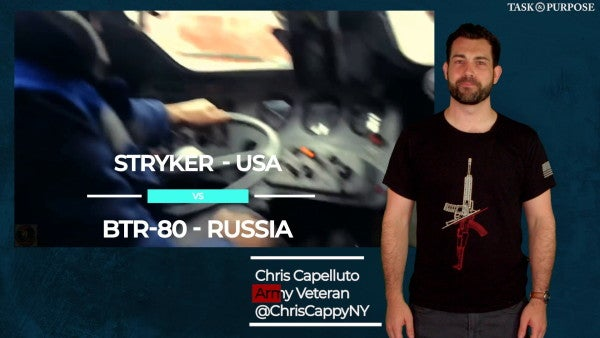 Video: the US Army's upgunned Stryker vs. the Russian BTR-80