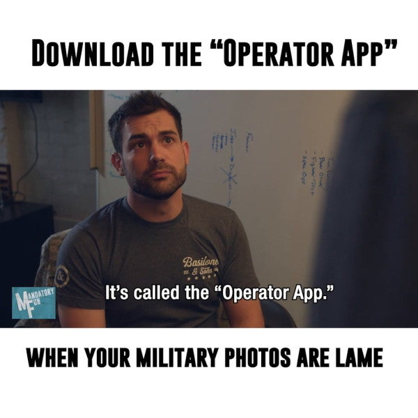 Add black bars and beards to your lame military photos with the 'Operator App'