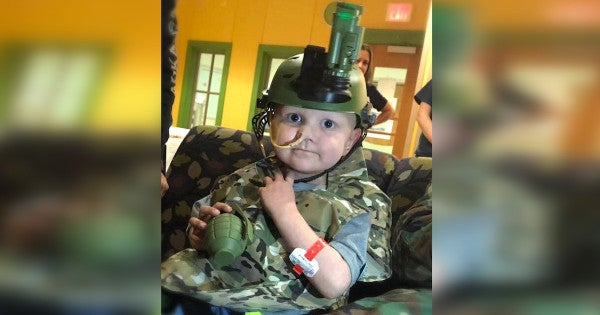 Dozens of service members showed up for the funeral of a 5-year-old who dreamed of being an 'Army Man'