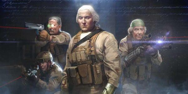 Behold the majesty that is this painting of 'SEAL Team 1776'