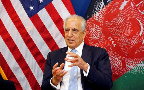 Top American diplomat says Afghans and Taliban have agreed to a 'roadmap for peace'
