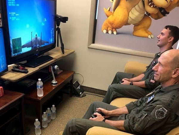 The head of Air Force Combat Command lost a video game dogfight against his son